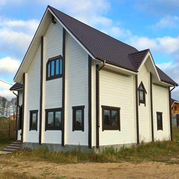 Двухэтажный дом из клееного бруса БД-165