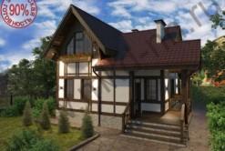 Панельно-каркасный дом Рейн 129